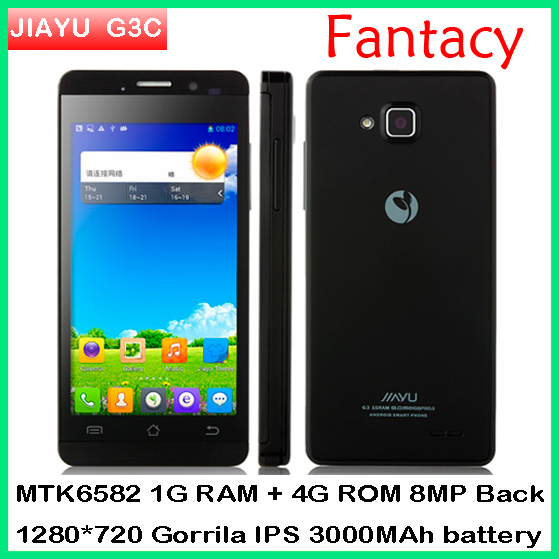 "3000MAh G3T MTK6589T 1.5ghz Original Jiayu G3s Quad Core Phone Android 4.2 4.5"" IPS Gorilla Screen 1GRAM+4GROM WCDMA 3G phone(China (Mainland))"