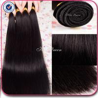 queen hair products malaysian virgin hair straight 3/4 pcs lot free shipping virgin malaysian hair straight human hair extension