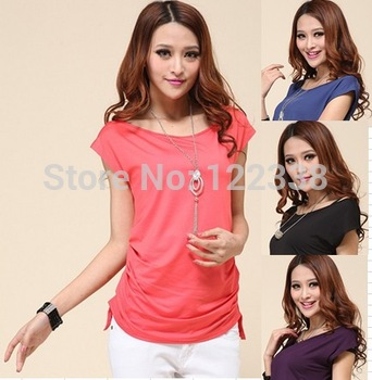 Free shipping fashion leisure t-shirts M6   t shirt 2014 women  long t-shirts