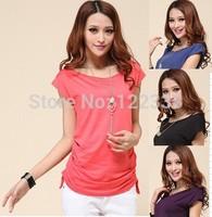 Free shipping fashion leisure t-shirts M6   t shirt 2014 women  long t-shirts