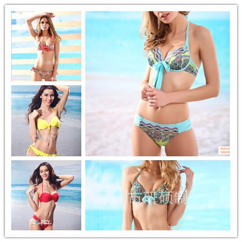 2014 New women bikini sexy swimwear victoria stype bandage bikinis(Hong Kong)
