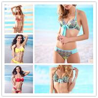 2014 New women bikini sexy swimwear victoria stype bandage bikinis set bathing suits push up monokini 1081
