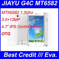 "New Arrival Jiayu G4C phone MTK6582 Quad Core 1.3Ghz 1G RAM 4G ROM Android 4.2 4.7"" IPS Gorilla 2 OTG JIayu mobile phone/Eva"
