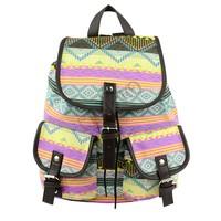 New Vintage Floral Ladies Canvas Bag School Bag Backpack 2 Colors Drop shipping 18368