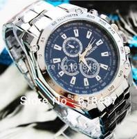 Wholesale New 2013 Men Luxury Brand Fashion Quartz Women Dress Watches With Bule/Black/White Colors& Full Steel Sports Watch