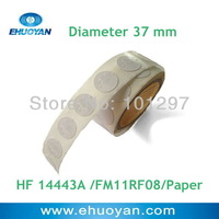 10% OFF100pcs/lot RFID Label/Sticker/Tag 13.56MHZ ISO 14443A  FM11RF08 Round 26mm White