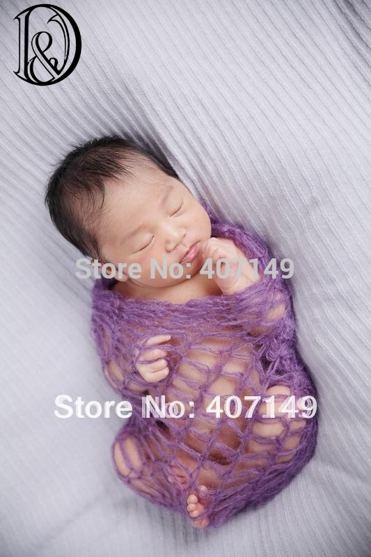 Crochet Mohair Wraps Newborn Photography Wraps Baby Shower Gift Newborn Photo Props(China (Mainland))
