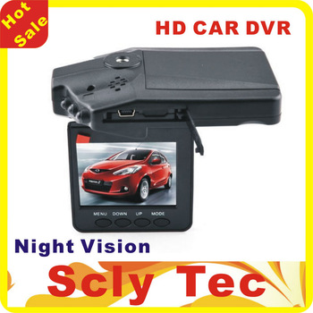 Hot Sale  Car DVR Recorder camera H198 2.5'' TFT LCD screen 6 IR LED Night vision 90 degree wide view angle