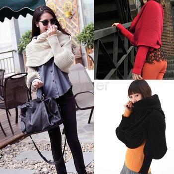 Unisex Winter Warmer Knitting Wool Long Soft Scarf Shawl Scarves As Sleeve Wrap Free Shipping 9087 sv16