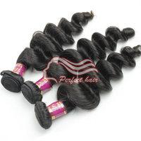 Perfect 12''~32'' 3 Bundle/lots Malaysian Loose Curly Wave virgin hair color 1b Free Shiping