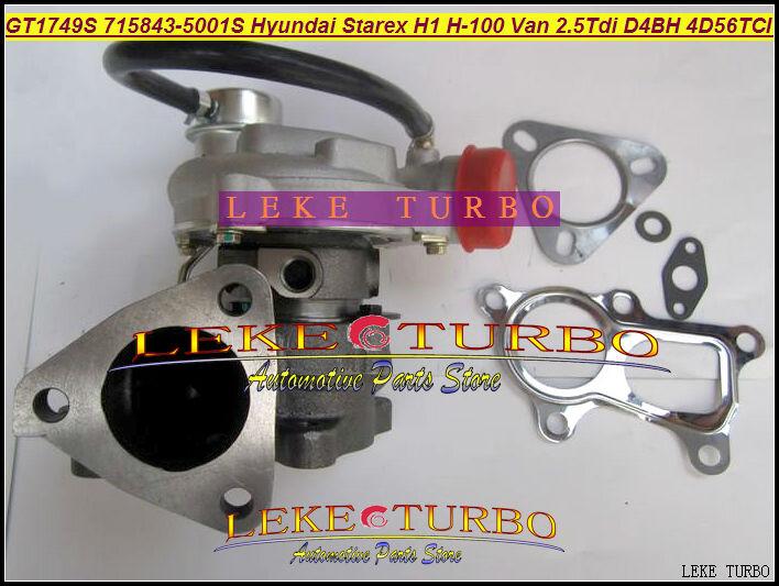 NEW GT1749S 715843-5001S 715843 28200-42600 Turbocharger For Hyundai Starex H1 H200 H-1 light truck H-100 Van 2.5L D4BH 4D56TCI(China (Mainland))