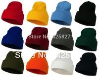 Unisex Plain Warm Soft Beanie Skull Knit Cap Hat-12 Colors