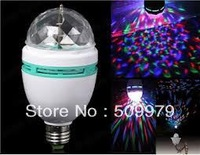 3W E27 RGB LED full colorfull ligh Crystal Stage Light led DJ spotlight party KTV  Light disco lamp RGB bulb lamp Free Shipping
