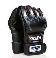 1 Pair High Quality Half Finger Boxing Gloves & Gym Sanda Fighting Gloves & PU leather MMA Gloves 4 Colors BG-1003