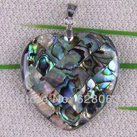 Fashion New Zealand Abalone Shell Bead Pendant Jewelry Free shipping S049