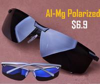 Fashion Glasses Top Fasion Vintage 2014 Aluminum Magnesium Cool Men's Favorate Polarized Sunglasses Sport Shows Man Charm Driver