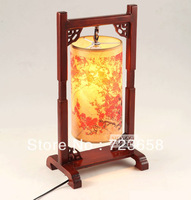 Free Shipping Chinese style classical table lamp wooden decoration lamp ofhead antique table lamp 6006