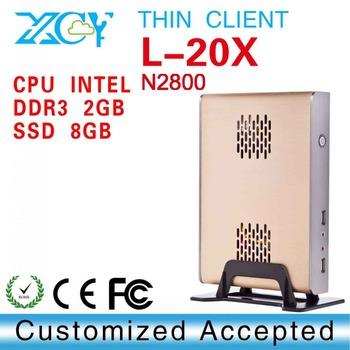 Intel N2800, 2G RAM,16GB SSD,fanless mini computer, Thin client PC with USB HDMI, VAG,MIC, SPK, DC-IN jack,RJ 45lan port
