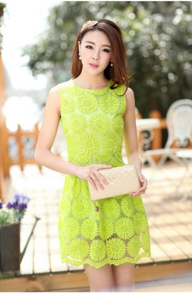 Cute Asian Clothes Online Shopping Slim Cute Lace Dresses