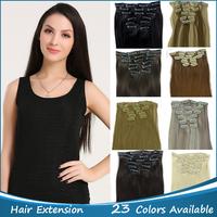 "Full Head 22""/55cm High Temperature Fiber 7pcs/set Straight Clip In Hair Extensions 21 Colors to Pick 120g/Set 777"