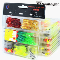 New 90 pieces soft lure set multicolor artificial protein soft bait  with lead jig head fishing hook