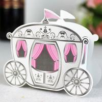 "Free Shipping 100pcs Cinderella ""Enchanted Carriage"" Wedding Favor Boxes Wedding Candy Box Casamento Wedding Favors And Gifts"