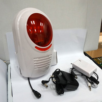P95 Wireless Flash Strobe Outdoor Siren Red Light with Transmitter 100dB 315MHz Just For Home Alarm System