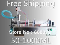 stainless steel 50-1000ml single head pneumatic automatic liquid paste filling machine