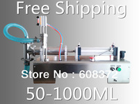 stainless steel 50-1000ml single head pneumatic automatic liquid paste filling machine