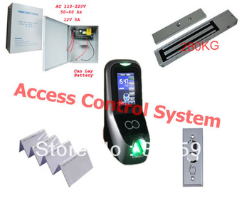 facial access control +12V5A power supply+280kg magnetic lock +Door Release Switch +50pcs ID Card