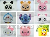 Cute animals small portable speakers portable mini cartoon speaker MP3 / MP4 / mobile phone small sound