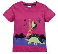 Girls' Summer Short Tees Fashionable Tshirts 100% Cotton, 6 Sizes (18M-6T)/lot - JBST333/JBST387/JBST388/JBST425/JBST426/JBST445