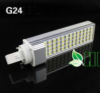 free shipping wholesale 5PS/lot G24 E27 base led horizontal plug corn light 180 led energy saving lamp 5050 chip 25w power