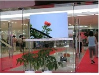 3d Holographic transparent  rear projection screen film display vivid and clear picture for shopping windows / fast shipping