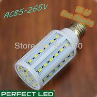 E27 110V 220V LED Corn Light Lamp Bulb 15W 60 Piece 5630 SMD Lamp Beads Warm Light & White Light Energy Saving Free Shipping