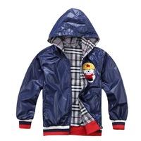 Reversible Featured Cartoon Boy Fashion Jackets Size 100-140 cm Unique Design Children Outerwear
