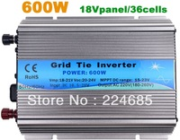 600W Grid tie inverter,120V or 230VAC output,18V panel/36cells,solar inverter,pure sine wave inverter, MPPT function