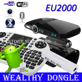 [ With  Rii mini i8 Air Mouse ] EU2000 5.0MP And Mic TV camera Google TV Box Stick HDMI Dongle 1GB 8GB Android 4.0 Skype TV Box
