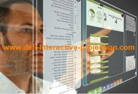 "60"" High Quality Transparent Interactive Touch Foil  through glass shop window, Multi-touch foil"