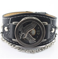 Promotion Free Shipping antique Retro Eagle Pattern Analog quartz watch mens bracelet watch