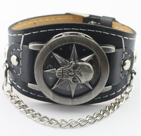 Promotion Free Shipping 2013 Skeleton Skull Analog watch womens antique bracelet Watch Min.order is $10 (mix order) HW064