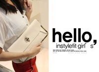 Fashionablestyle  Day Clutches for women,evening bags balck and white skull shape MLN-01