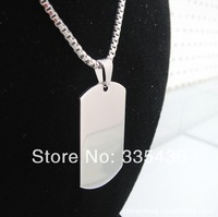 2013 newest men stainless steel necklace.Dog tag pendant wholesale.matching with 55cm stainless steel bead chain