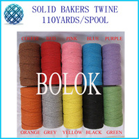 Solid cotton Baker twine10pcs/lot (110yards) 10 kinds color by free shipping