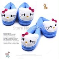 free & drop 1pair/lot retail newest winter hot sale cartoon hello kitty stitch Pink pig panda dog animal ouples cotton slippers