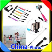 2014 New selfie stick Extendable monopod Handheld Self-portrait Tripod Monopod+ Clip For iPhone 6/6 Samsung  S5, S4, S3, S2,