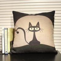 Black Cartoon Cat Cushion 1pcs 45 *45cm Free Shipping
