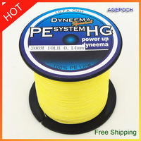 Free Shipping Cheaper than the ex-factory price 300m  braided fishing line  10LB yellow.