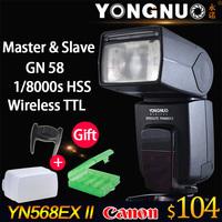 Yongnuo YN-568EX II TTL Master High Speed Sync 1/8000s Flash Speedlite for CANON 5D Mark II,III,5D2 5D3 6D 7D 60D 70D 700D 650D