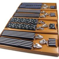 200g 98cm Long 3.50cm Width Elastic Adjustable Elastic Male Spaghetti Strap Clip Men's bib Pants Suspenders Free Shipping